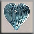 12069 - Medium Fluted Heart Aqua 12/11mm - 1 per pkg